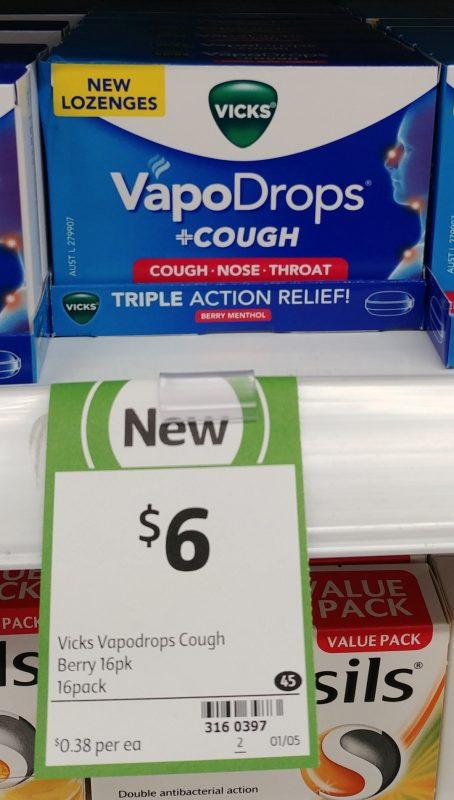 Vicks 16 Pack VapoDrops Cough Berry Menthol