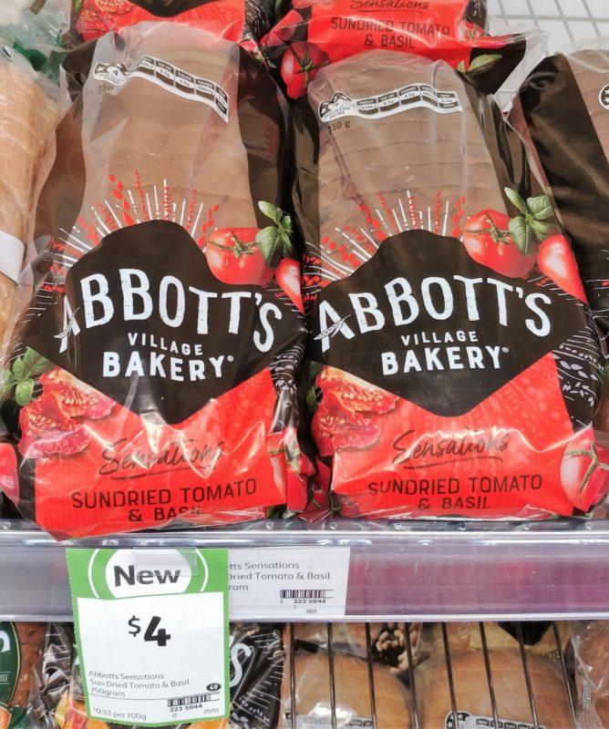 Abbott's Village Bakery 750g Sensations Sundried Tomato & Basil