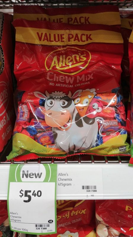 Allen's 415g Lollies Chew Mix