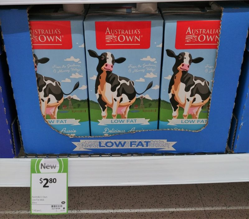 Australia's Own 2L Low Fat Milk