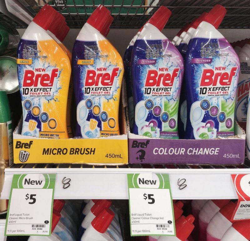Bref 450mL Toilet Micro Brush Lemon, Colour Change Lavender