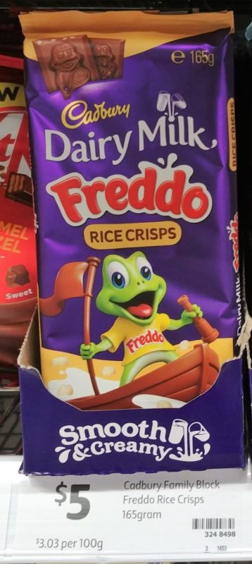 Cadbury 165g Milk Chocolate Freddo Rice Crisps
