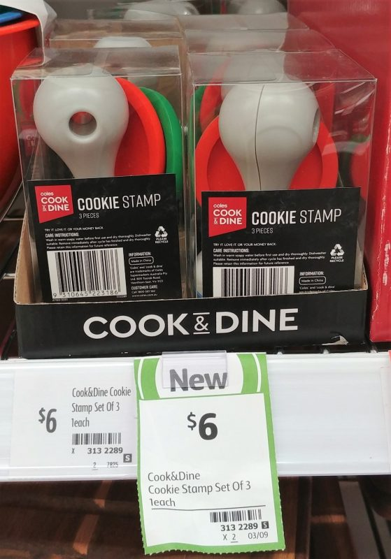 Coles 1 Pack Cook & Dine Cookie Stamp