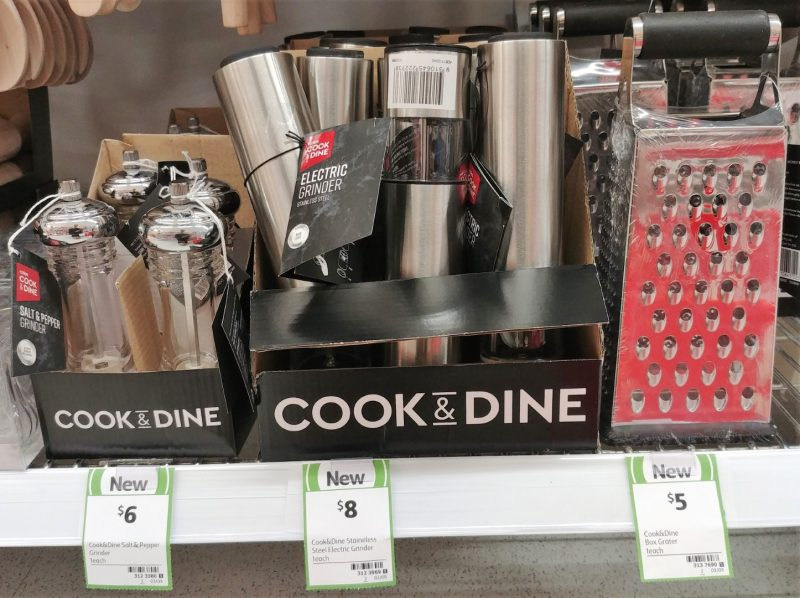 Coles 1 Pack Cook & Dine Salt & Pepper Grinder, Electric Grinder, Box Grater