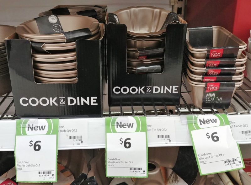 Coles 2 Pack Cook & Dine Mini Pie Dish, Bundt Tin, Loaf Tin