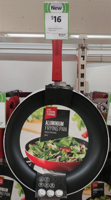 Coles 28cm Cook & Dine Pan Frying Aluminium Induction Base