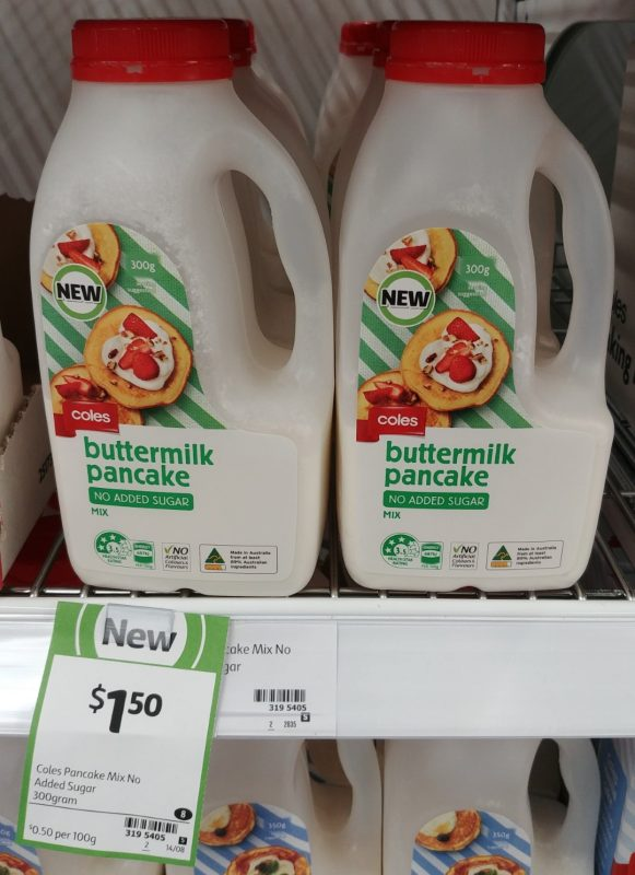Coles 300g Buttermilk Pancake No Added Sugar Mix