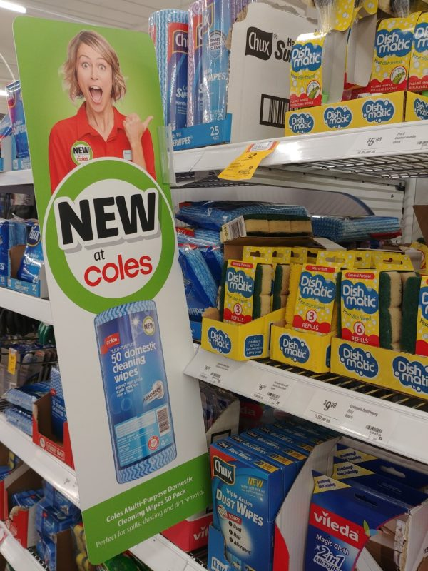 Coles 50 Pack Multi Purpose Cleaning Wipes New Girl Jenny