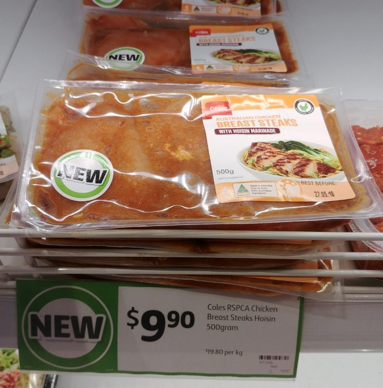 Coles 500g Chicken Breast Steaks Hoisin Marinade
