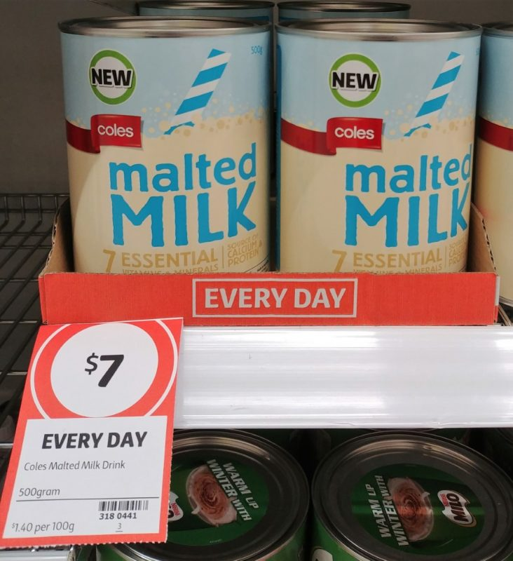 Coles 500g Malted Milk Drink