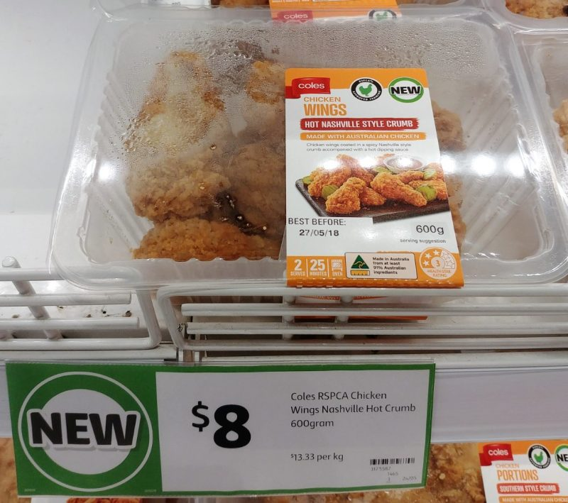 Coles 600g Chicken Wings Nashville Style Crumb