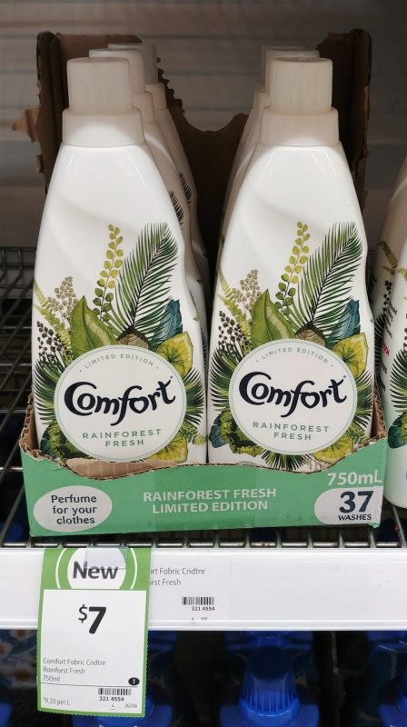 Comfort 750mL Fabric Conditioner Limited Edition Rainforest Fresh