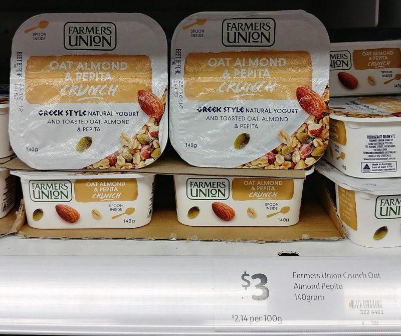 Farmers Union 140g Greek Style Yogurt Oat Almond & Pepita Crunch
