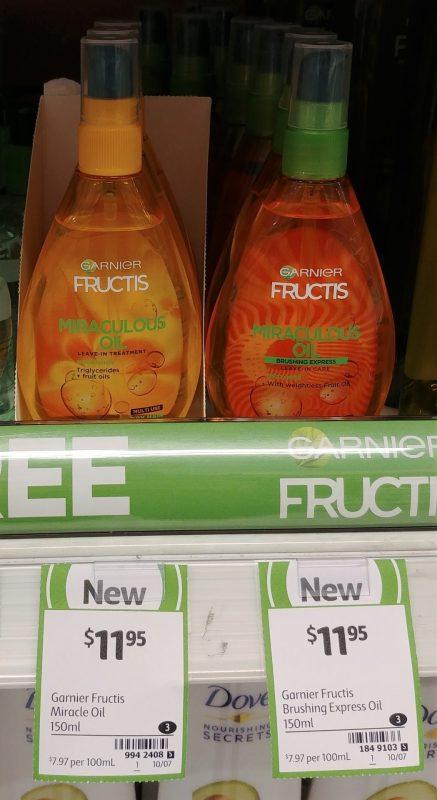 Garnier 150mL Fructis Miraculous Oil Leave In, Brushing Express