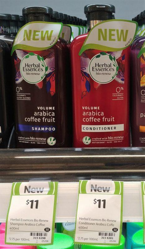Herbal Essences 400mL Volume Arabica Coffee Fruit Shampoo, Conditioner