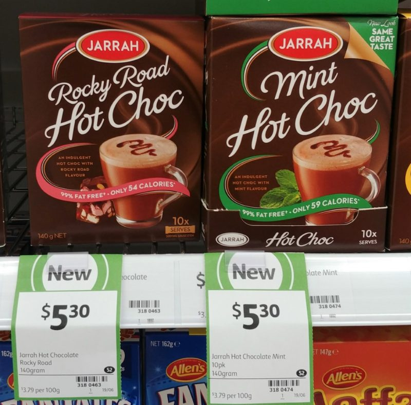 Jarrah 140g Hot Choc Rocky Road, Mint