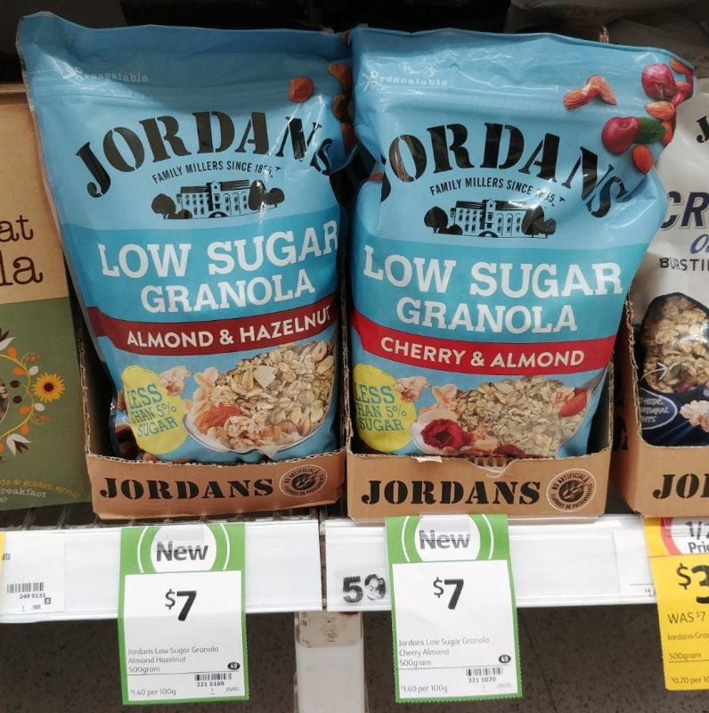 Jordans 500g Granola Low Sugar Almond & Hazelnut