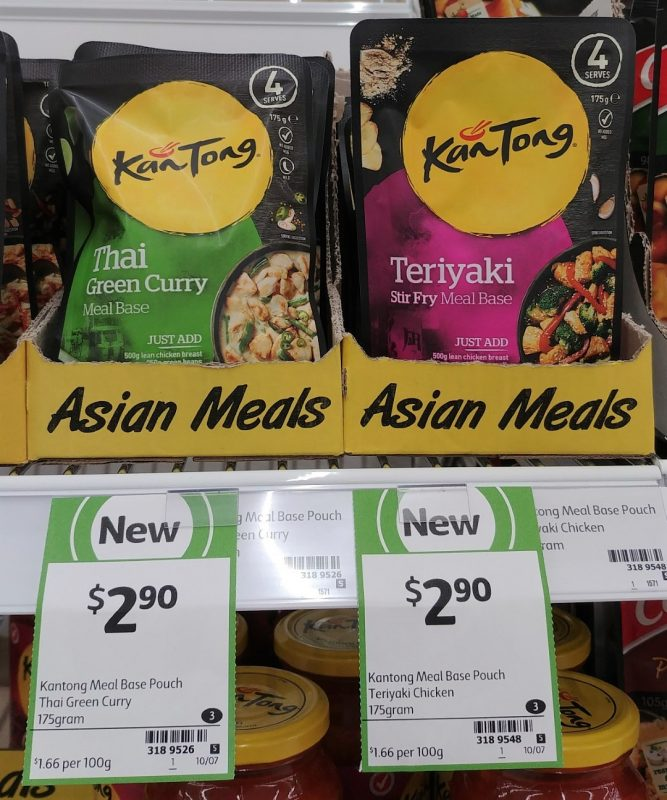 Kan Tong 175g Meal Base Thai Green Curry, Stir Fry Teriyaki