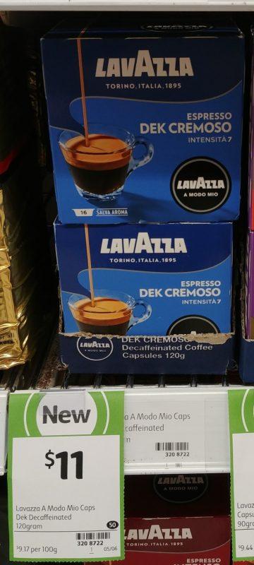 Lavazza 120g Coffee Capsules Espresso Dek Cremoso