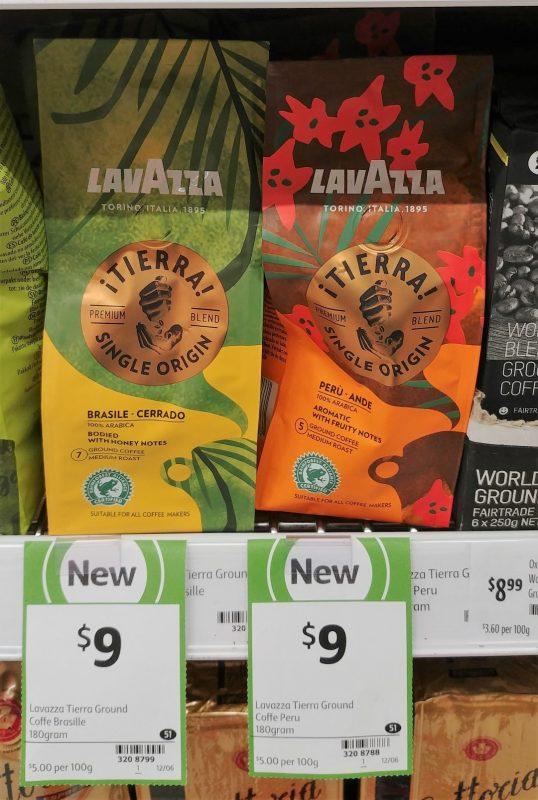 Lavazza 180g Tierra Ground Coffee Single Origin Brasile, Peru