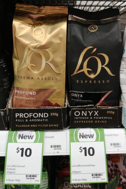 L'or 250g Coffee Grind Profond, Onyx