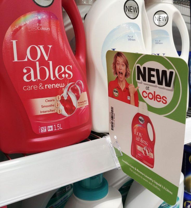 Lovables 1.5L Laundry Liquid Care & Renew New Girl Jenny