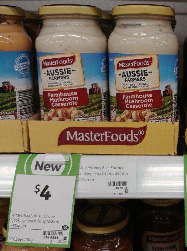 Masterfoods 490g Aussie Farmers Farmhouse Mushroom Casserole