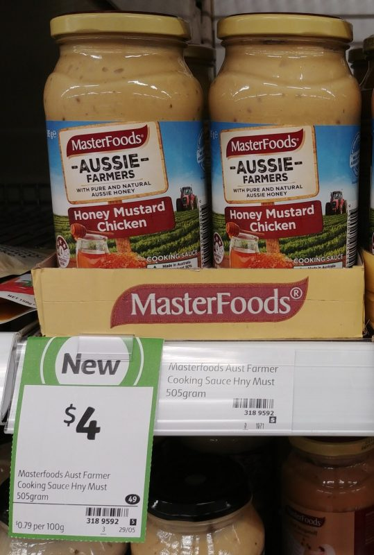 Masterfoods 505g Aussie Farmers Honey Mustard Chicken