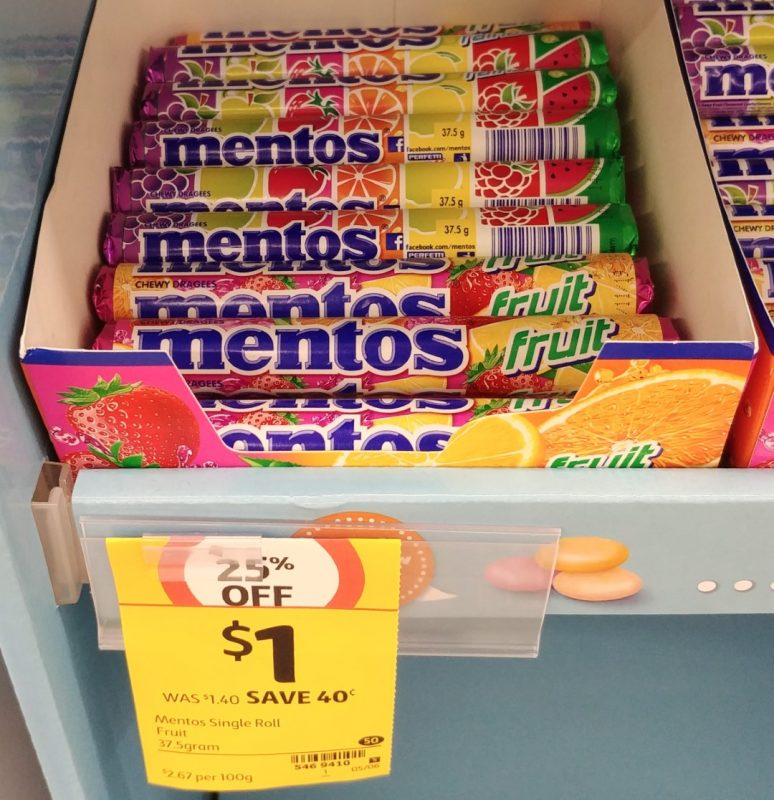 Mentos 37.5g Fruit
