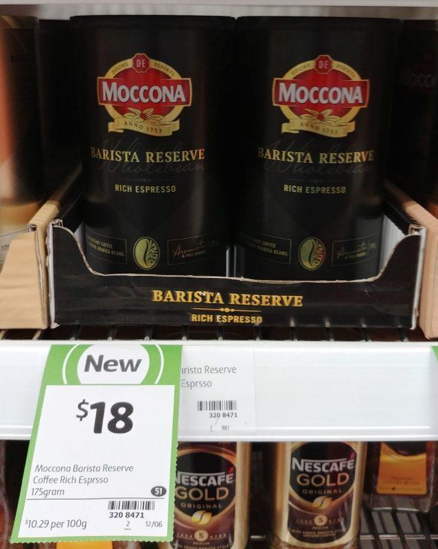 Moccona 175g Rich Espresso Barista Reserve