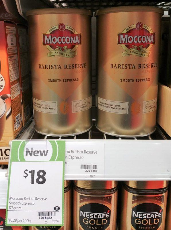 Moccona 175g Smooth Espresso Barista Reserve