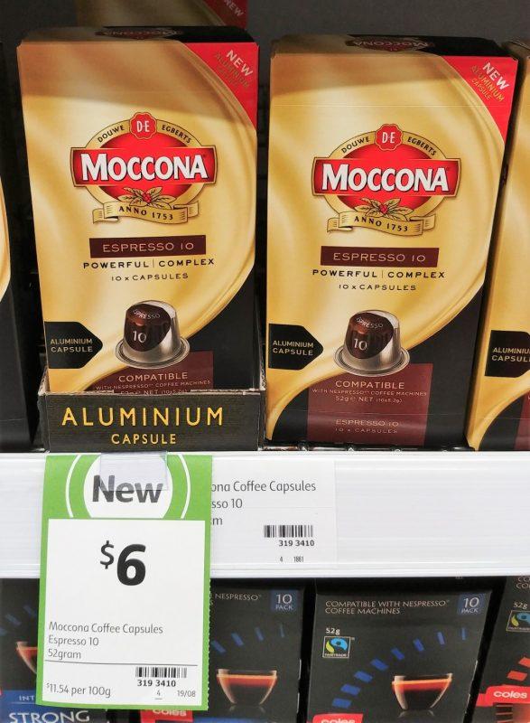 Moccona 52g Coffee Capsules Espresso 10