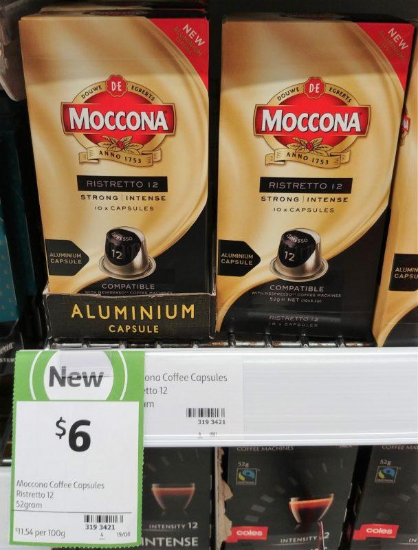 Moccona 52g Coffee Capsules Ristretto 12