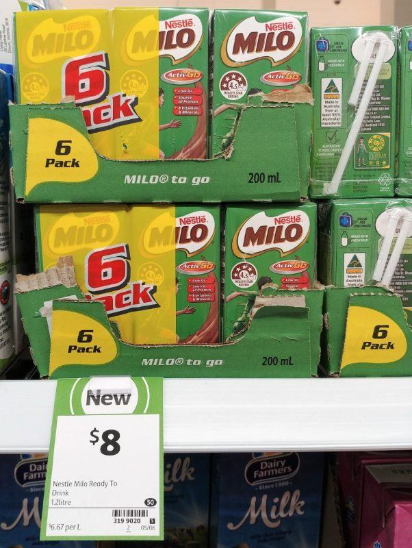 Nestle 6 X 200mL Milo To Go
