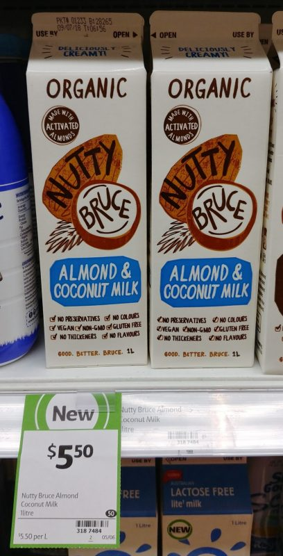 Nutty Bruce 1L Organic Almond & Coconut Milk