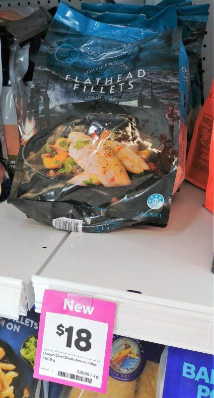 Ocean Chef 1kg Flathead Fillets Frozen