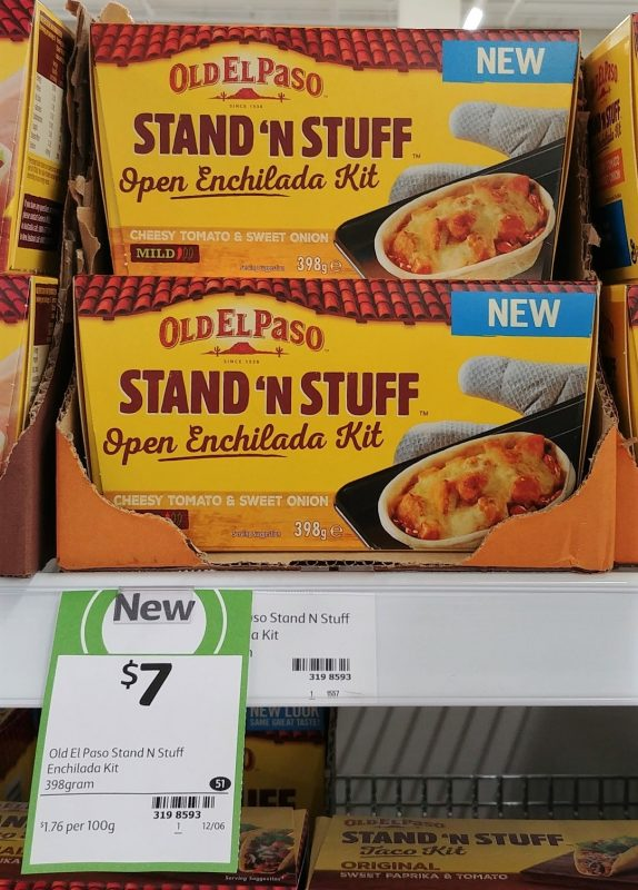 Old El Paso 313g Open Fajita Kit Stand 'N Stuff Cheesy Tomato & Sweet Onion