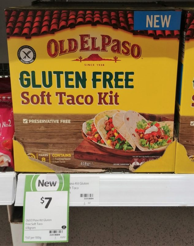 Old El Paso 418g Soft Taco Kit Gluten Free