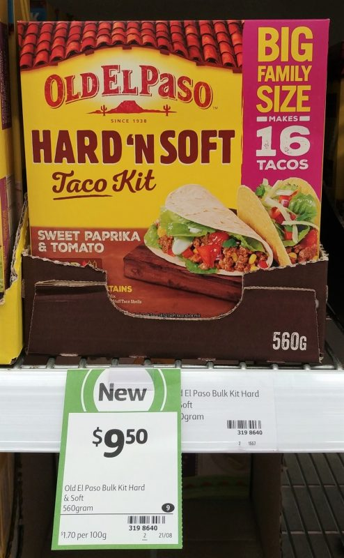 Old El Paso 560g Taco Kit Hard 'n Soft Sweet Paprika & Tomato