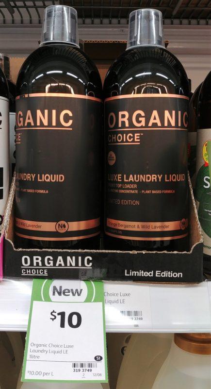 Organic Choice 1L Laundry Liquid Limited Edition Orange Bergamot & Wild Lavender