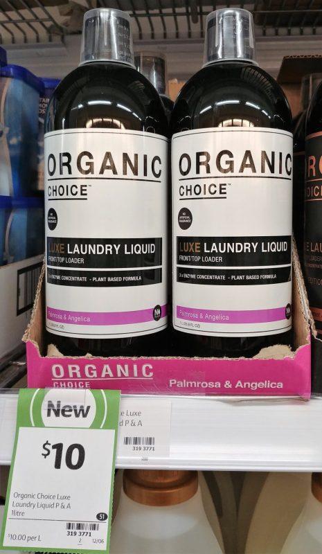 Organic Choice 1L Laundry Liquid Palmrosa & Angelica