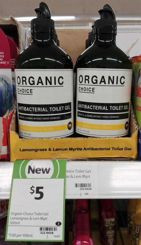 Organic Choice 500mL Antibacterial Toilet Gel Lemongrass & Lemon Myrtle