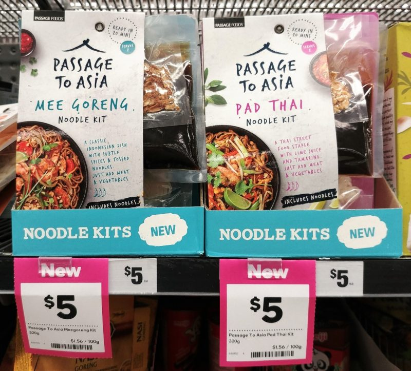 Passage Foods 320g Passage To Asia Noodle Kit Mee Goreng, Pad Thai