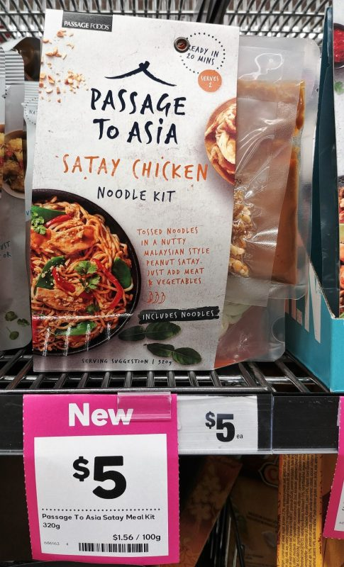 Passage Foods 320g Passage To Asia Noodle Kit Satay Chicken