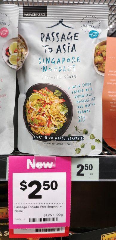 Passage Foods 320g Passage To Singapore Noodle Stir Fry Sauce