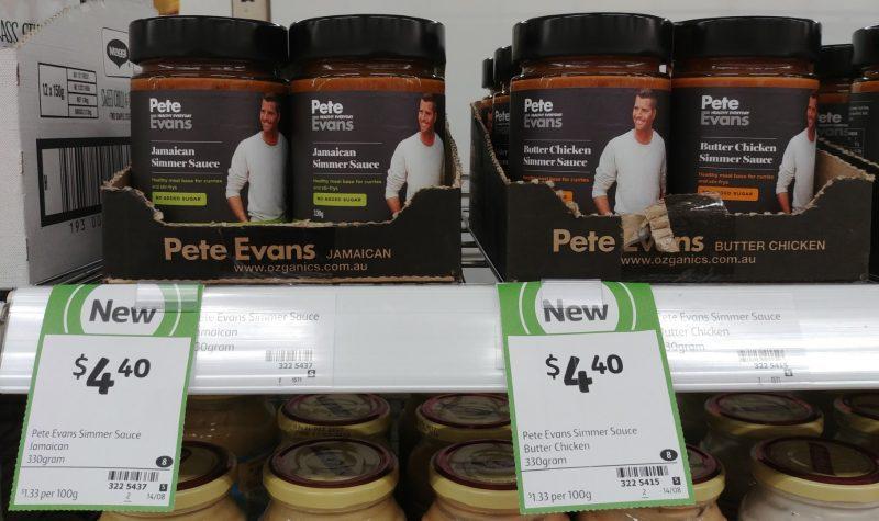 Pete Evans 330g Simmer Sauce Jamaican, Butter Chicken