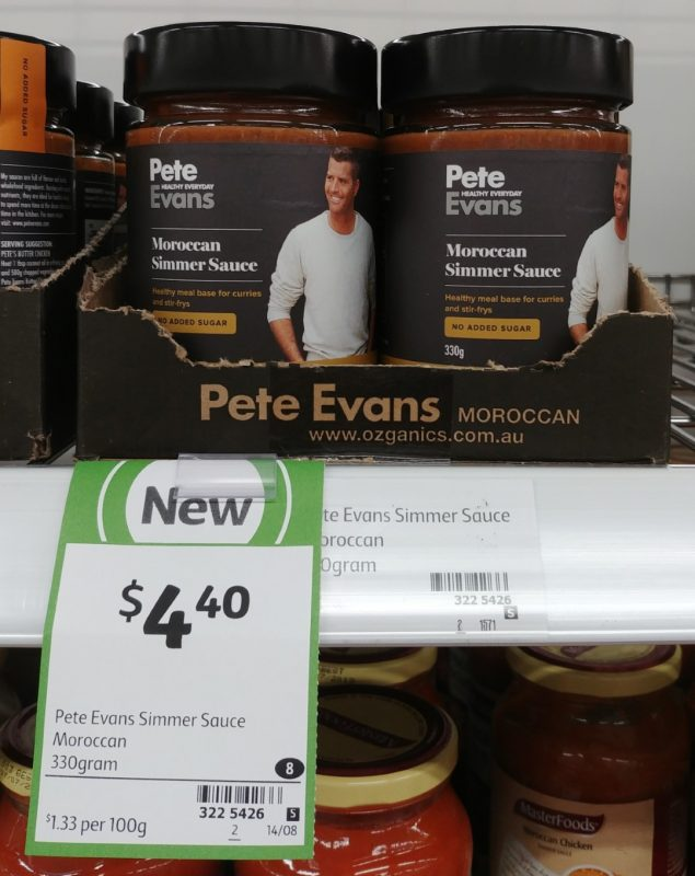 Pete Evans 330g Simmer Sauce Moroccan