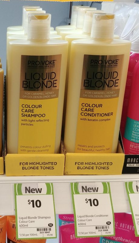 Pro Voke 400mL Liquid Blonde Colour Care Shampoo, Conditioner