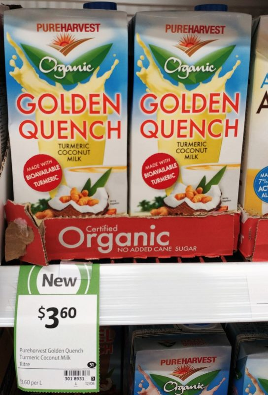Pureharvest 1L Organic Turmeric Coconut Milk Golden Quench