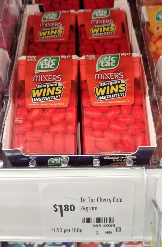 Tic Tac 24g Mixers Cherry Cola Flavour